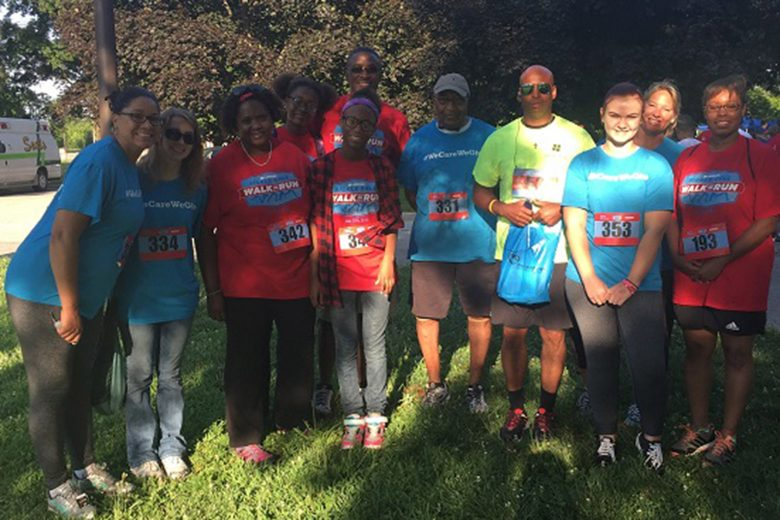 Shrewsberry participates in the Martin Center Sickle Cell walk & run every year. The initiative exists to aid and enhance the lives of those affected by Sickle Cell and associated disorders by providing services, education, and advocacy.