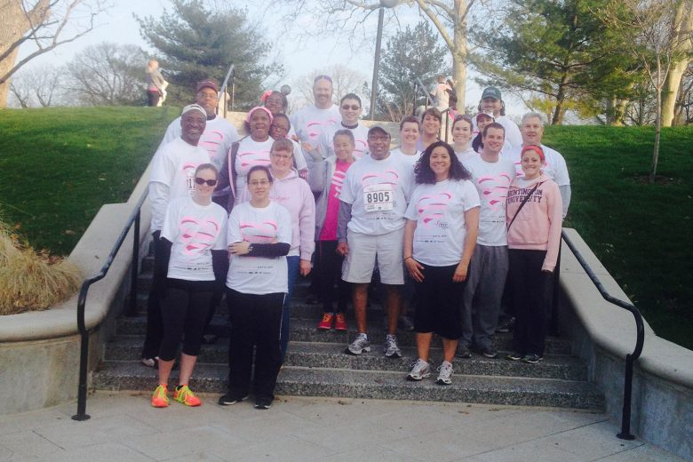 Shrewsberry employees enjoy participating annually in Race for the Cure. The Susan G. Komen Race for the Cure® Series is the world's largest and most successful education and fundraising event for breast cancer ever created.