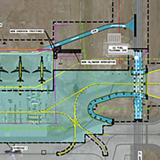 DEN Taxiway DS East and RON Parking