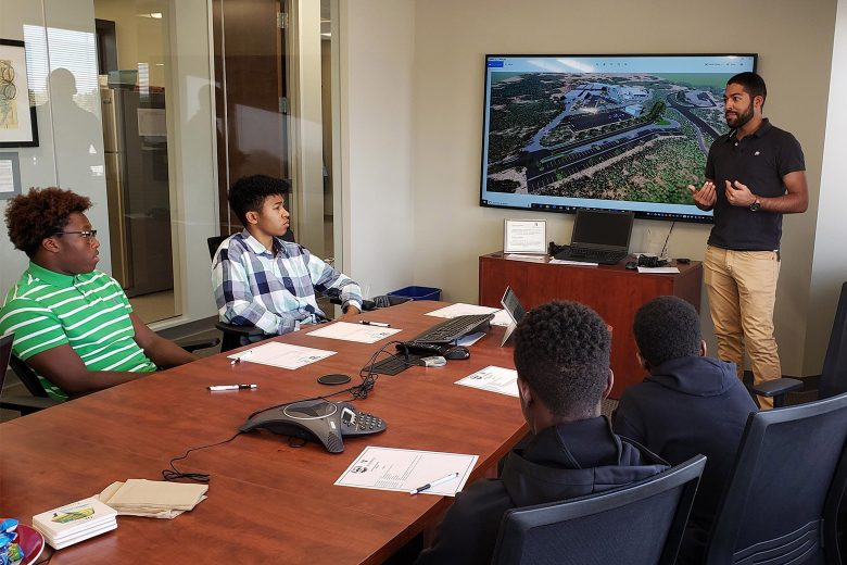 Shrewsberry West hosted an Engineering Workshop for the Crowley Foundation. The foundation works with at risk young men of color.