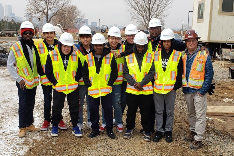 A site tour of the City Park Golf Project for some 8th graders in Crowley College Prep Program.