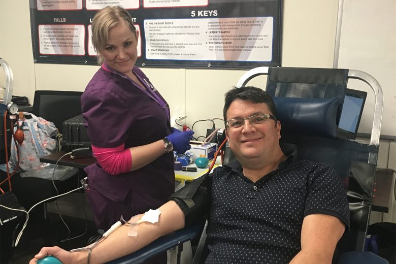 We had the first blood drive at the C-70 project. Every firm working at the project participated in the event: Kiewit, CDOT, WSP and Shrewsberry. It was a great event that will help around 98 lives.