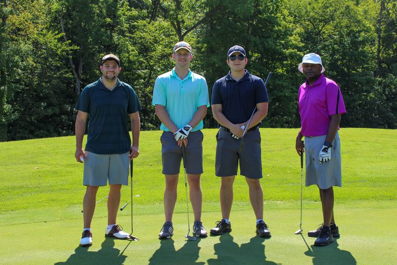 Eight Shrewsberry employees (Joe Wiesinger, Chad Mills, Kelsey Jones, Michael Roth, Ty Chittum, Frank Mosko, Patrick Mathews, and Zach Neukam) comprised five of 24 teams that competed in the 12th Annual Scott Swain Invitational (hosted by Marketing Manager Scott Swain) on August 15 in New Castle, Indiana. The golf outing raised over $10,000 for the Little Red Door Cancer Agency of Indianapolis.